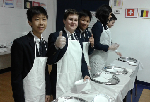 LRH Students Serve Up French Culture at Cafe Francais!